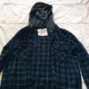 Tops - Oversized green and blue flannel